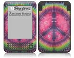 Tie Dye Peace Sign 103 - Decal Style Skin fits Amazon Kindle 3 Keyboard (with 6 inch display)