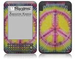 Tie Dye Peace Sign 104 - Decal Style Skin fits Amazon Kindle 3 Keyboard (with 6 inch display)