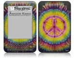 Tie Dye Peace Sign 109 - Decal Style Skin fits Amazon Kindle 3 Keyboard (with 6 inch display)