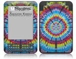 Tie Dye Swirl 100 - Decal Style Skin fits Amazon Kindle 3 Keyboard (with 6 inch display)