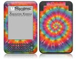 Tie Dye Swirl 102 - Decal Style Skin fits Amazon Kindle 3 Keyboard (with 6 inch display)