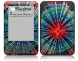 Tie Dye Bulls Eye 100 - Decal Style Skin fits Amazon Kindle 3 Keyboard (with 6 inch display)