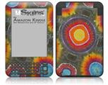 Tie Dye Circles 100 - Decal Style Skin fits Amazon Kindle 3 Keyboard (with 6 inch display)