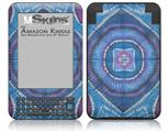 Tie Dye Circles and Squares 100 - Decal Style Skin fits Amazon Kindle 3 Keyboard (with 6 inch display)