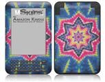 Tie Dye Star 101 - Decal Style Skin fits Amazon Kindle 3 Keyboard (with 6 inch display)