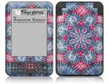 Tie Dye Star 102 - Decal Style Skin fits Amazon Kindle 3 Keyboard (with 6 inch display)