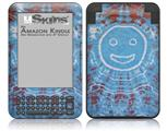 Tie Dye Happy 101 - Decal Style Skin fits Amazon Kindle 3 Keyboard (with 6 inch display)