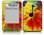 Tie Dye Music Note 100 - Decal Style Skin fits Amazon Kindle 3 Keyboard (with 6 inch display)