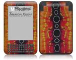 Tie Dye Spine 100 - Decal Style Skin fits Amazon Kindle 3 Keyboard (with 6 inch display)
