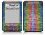 Tie Dye Spine 102 - Decal Style Skin fits Amazon Kindle 3 Keyboard (with 6 inch display)