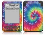 Tie Dye Swirl 104 - Decal Style Skin fits Amazon Kindle 3 Keyboard (with 6 inch display)