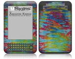 Tie Dye Tiger 100 - Decal Style Skin fits Amazon Kindle 3 Keyboard (with 6 inch display)
