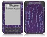 Tie Dye White Lightning - Decal Style Skin fits Amazon Kindle 3 Keyboard (with 6 inch display)
