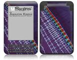 Tie Dye Alls Purple - Decal Style Skin fits Amazon Kindle 3 Keyboard (with 6 inch display)