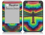 Tie Dye Dragonfly - Decal Style Skin fits Amazon Kindle 3 Keyboard (with 6 inch display)
