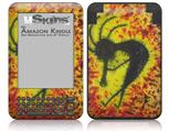 Tie Dye Kokopelli - Decal Style Skin fits Amazon Kindle 3 Keyboard (with 6 inch display)