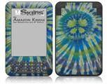 Tie Dye Peace Sign Swirl - Decal Style Skin fits Amazon Kindle 3 Keyboard (with 6 inch display)